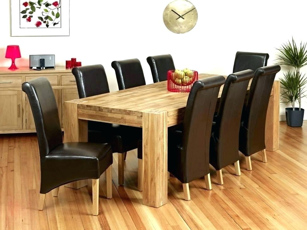 Fashionable Oak Dining Tables 8 Chairs Within Marvelous Round Dining Table For 8 – Studbox (View 7 of 20)