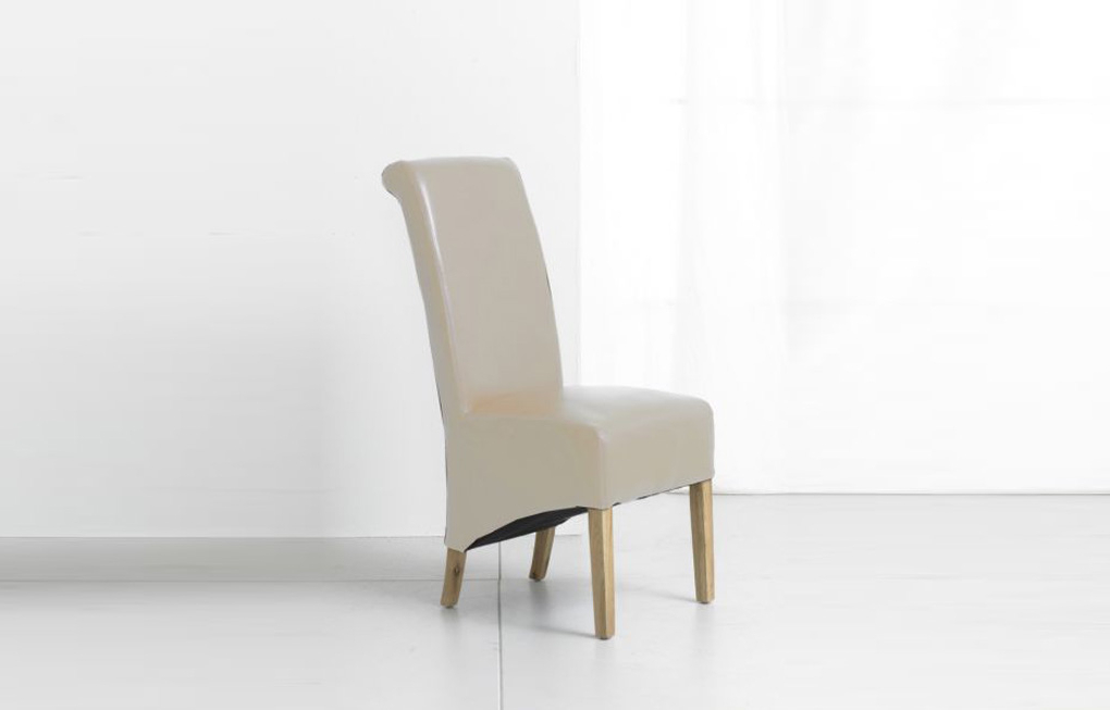 Fashionable Oak Leather Dining Chairs With Cream Oak And Bonded Leather Dining Chair (Gallery 15 of 20)
