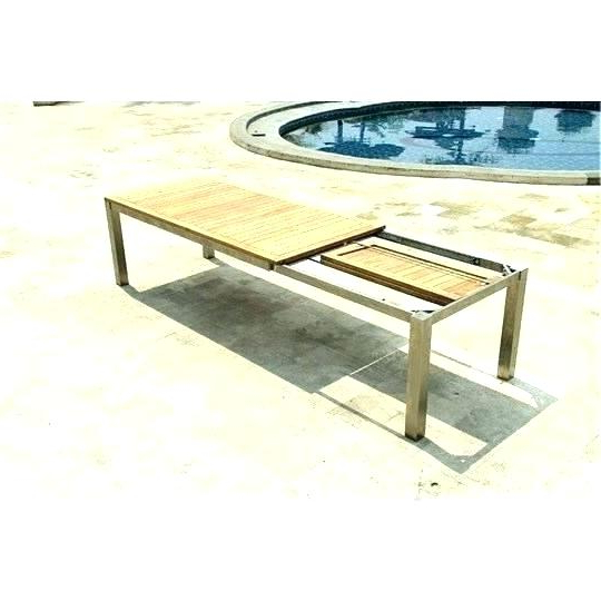 Fashionable Outdoor Extendable Dining Tables Within Extendable Outdoor Table – Babout (View 9 of 20)
