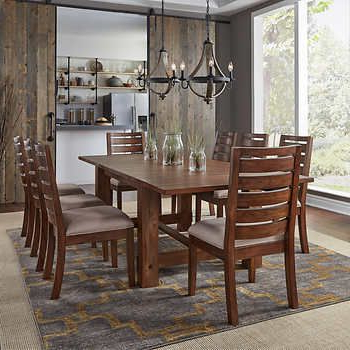 Fashionable Parquet 7 Piece Dining Sets With Corrine 9 Piece Dining Set (View 7 of 20)