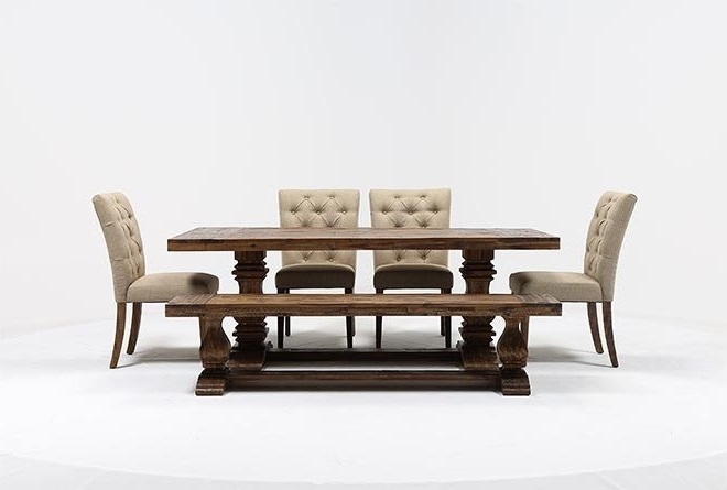 Fashionable Partridge 6 Piece Dining Set (View 6 of 20)