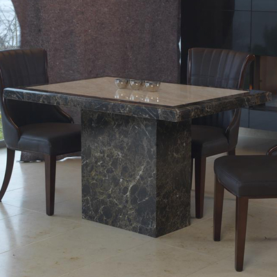 Fashionable Ravena Large Marble Dining Table – Robson Furniture Inside Small 4 Seater Dining Tables (View 5 of 20)