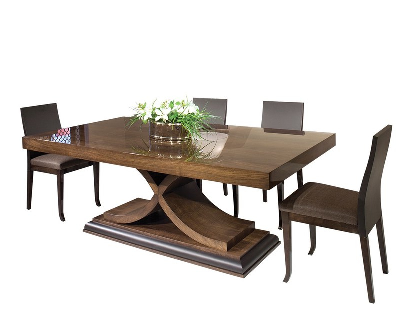 Fashionable Rectangular Solid Wood Dining Table Oslomobi Pertaining To Solid Wood Dining Tables (View 3 of 20)