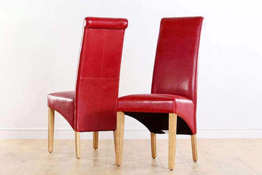 Fashionable Red Leather Dining Chairs (Gallery 8 of 20)