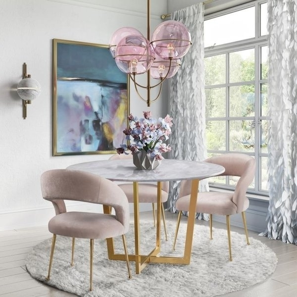 Fashionable Rocco Side Chairs With Regard To Shop Rocco Blush Velvet Dining Chair – Free Shipping Today (View 4 of 20)