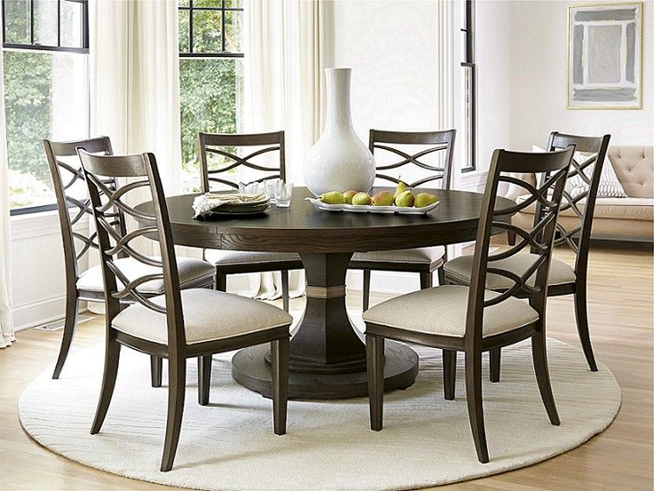 Fashionable Round Formal Dining Room Sets (View 7 of 20)
