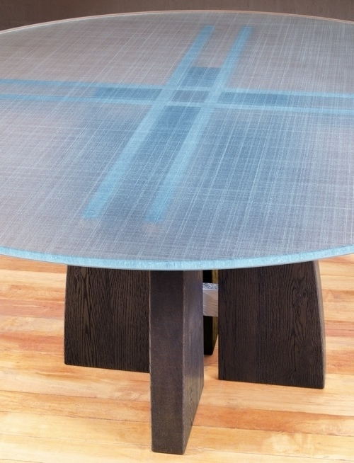 Fashionable Round Glass Top Dining Table (View 7 of 20)