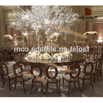 Fashionable Round Half Moon Dining Tables Regarding Half Moon Round Shape Dubai Dining Tables And Chairs For Banquet (Gallery 13 of 20)