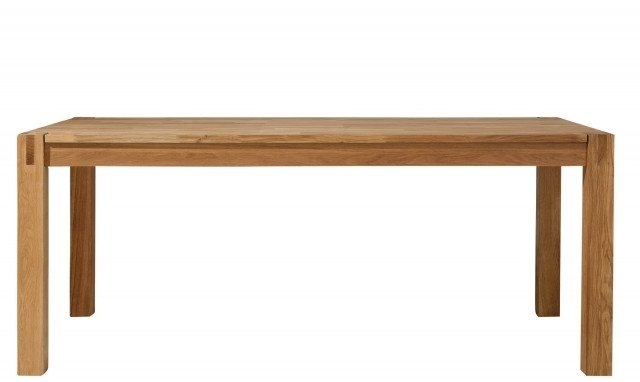 Fashionable Royal Oak – 180Cm Modern Oak Dining Table – Fishpools Pertaining To 180Cm Dining Tables (View 8 of 20)