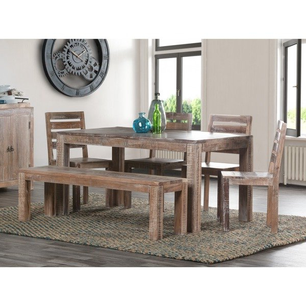 Fashionable Shop Reclaimed Wood 60 Inch Dining Table – Free Shipping Today Intended For Kirsten 5 Piece Dining Sets (View 6 of 20)
