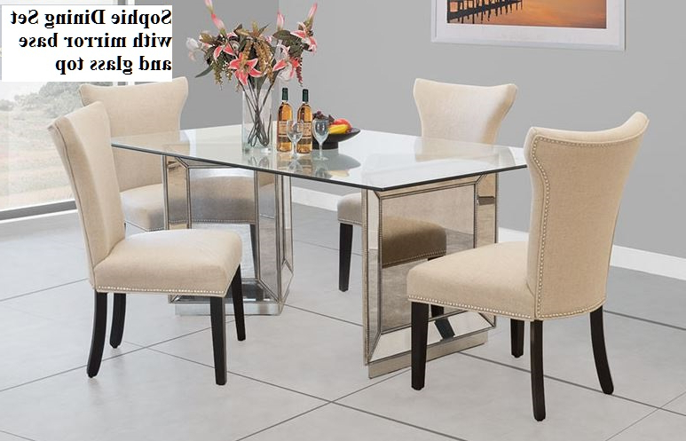 Fashionable Sophie Mirror Dining Set Within Mirrored Dining Tables (View 1 of 20)