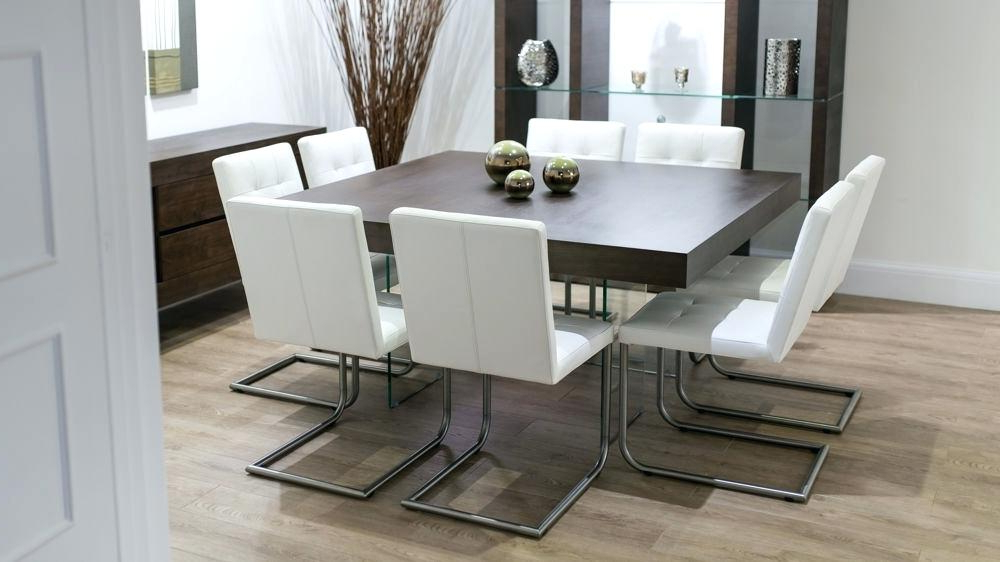 Fashionable Square Dining Room Table Seats 8 Top Dining Table Seats 8 Chairs Throughout Dark Wood Square Dining Tables (View 16 of 20)