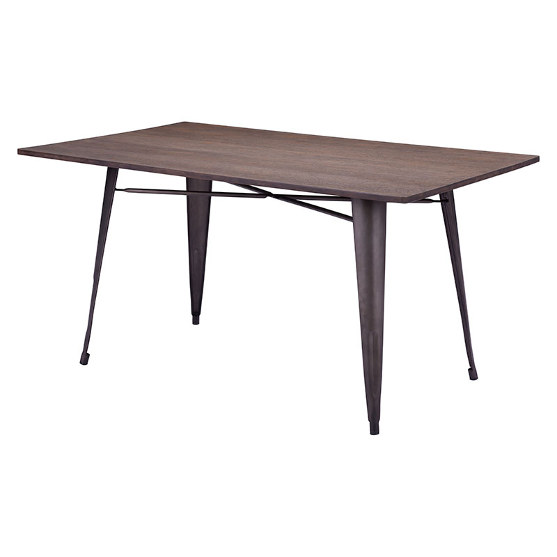 Fashionable Titus Rectangular Dining Table Rustic Wood – Modern Dining Tables Within Sleek Dining Tables (View 10 of 20)