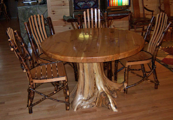 Fashionable Tree Dining Tables With Regard To Cabin Dining Table, Unique Tree Stump Base, Rustic Branch (View 2 of 20)