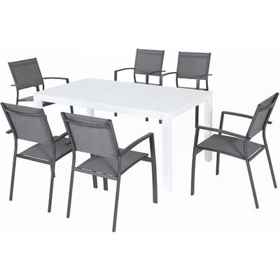 Fashionable Walden 7 Piece Extension Dining Sets Intended For Three Posts Burgett 7 Piece Dining Set & Reviews (View 3 of 20)