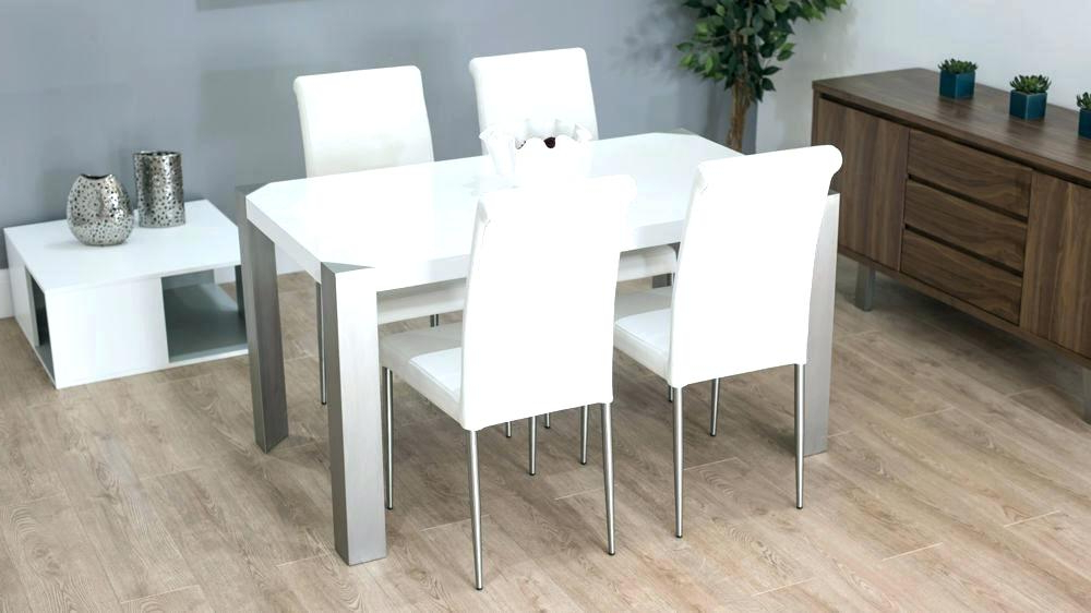Fashionable White Gloss Dining Set Extending White Gloss Dining Table Furniture Within White Gloss Dining Chairs (View 6 of 20)