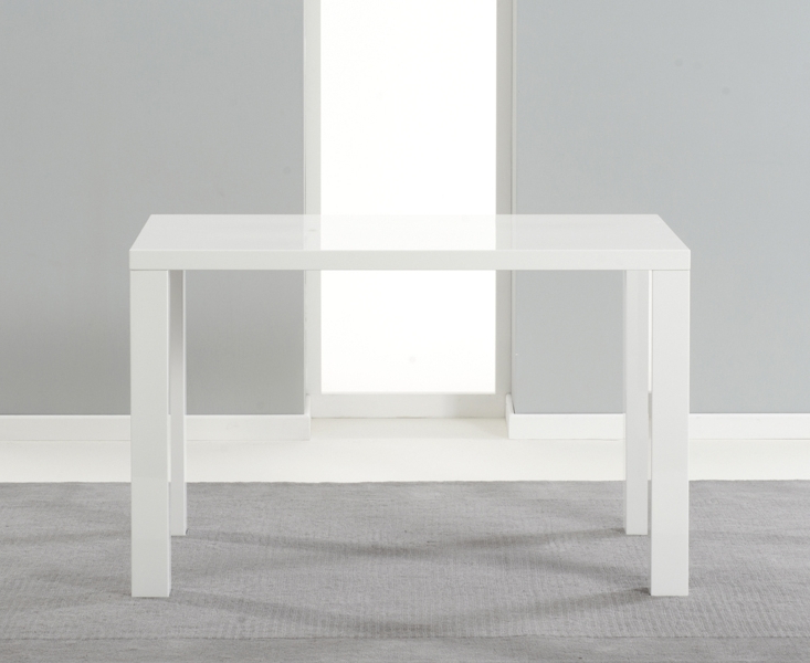 Fashionable White Gloss Dining Tables 120Cm With Regard To Buy Mark Harris Ava White High Gloss Dining Table – 120Cm (View 5 of 20)