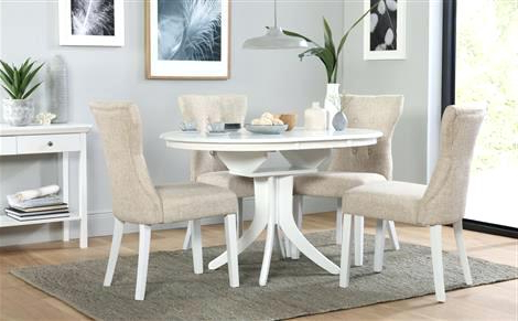 Fashionable White Round Extending Dining Tables With Regard To White Round Extending Dining Table Round White Dining Room Sets (Gallery 20 of 20)