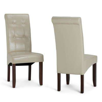 Faux Leather – Beige – Dining Chairs – Kitchen & Dining Room In Favorite Cream Faux Leather Dining Chairs (View 7 of 20)