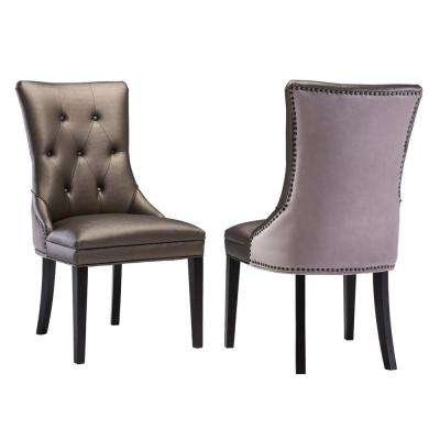Faux Leather – Dining Chair – 18.2 – Dining Chairs – Kitchen Intended For Well Known Purple Faux Leather Dining Chairs (Gallery 17 of 20)