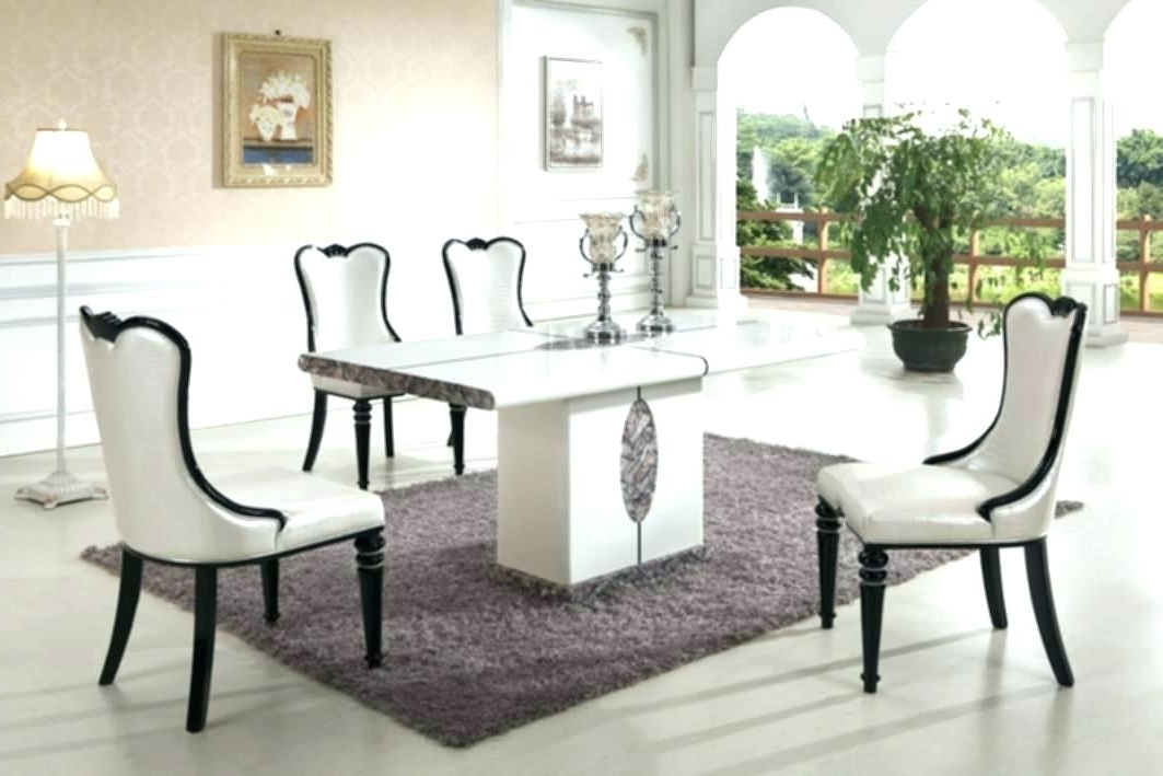 Faux Marble Dining Table Set 8 Chair Dining Table Set Modern Marble Inside Favorite 8 Chairs Dining Sets (View 14 of 20)