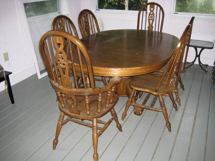 Favorite 9. Dining Table Used Oak Dining Table Chairs Oak Dining Room Table With Regard To Second Hand Oak Dining Chairs (Gallery 4 of 20)