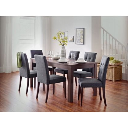 Favorite Adaline Walnut Dining Table And 6 Chairs At Homebase — Be Inspired Throughout Walnut Dining Table And 6 Chairs (View 12 of 20)