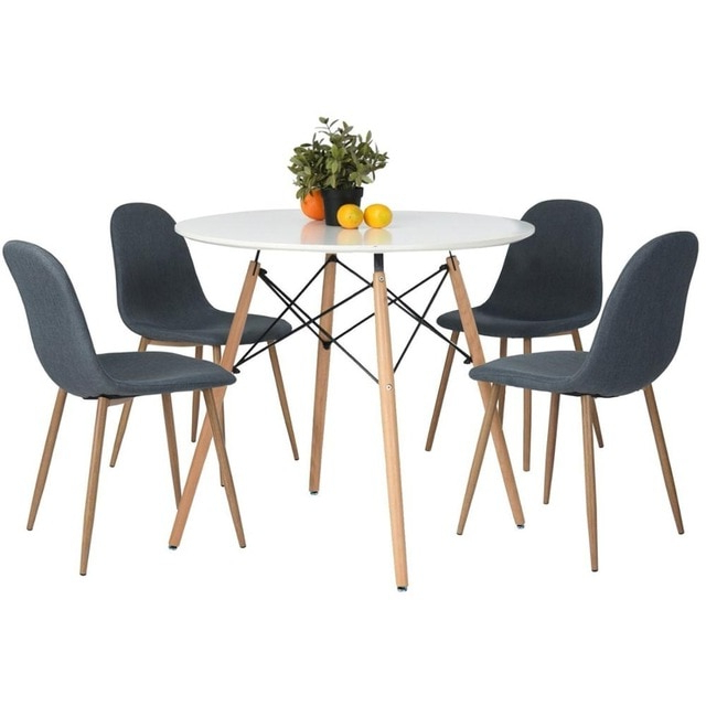 Favorite Aingoo Modern Leisure Wooden Tea Table Office Dining Table 80*80 Regarding Vogue Dining Tables (View 15 of 20)