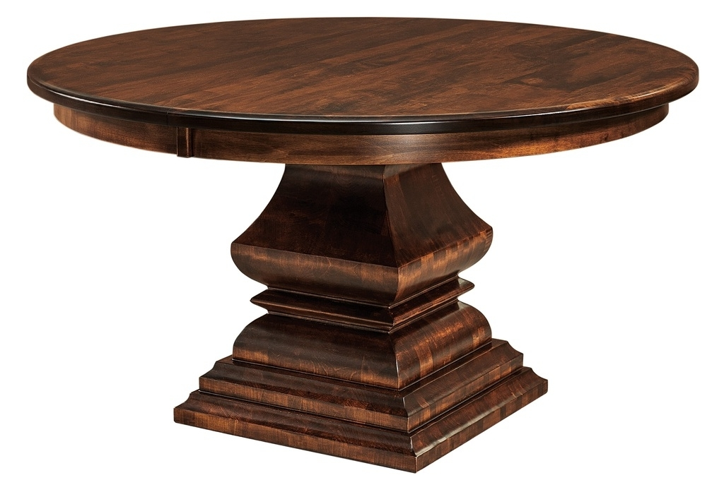 Favorite Amish Round Square Pedestal Dining Table Solid Wood Traditional Inside Bradford Dining Tables (View 13 of 20)