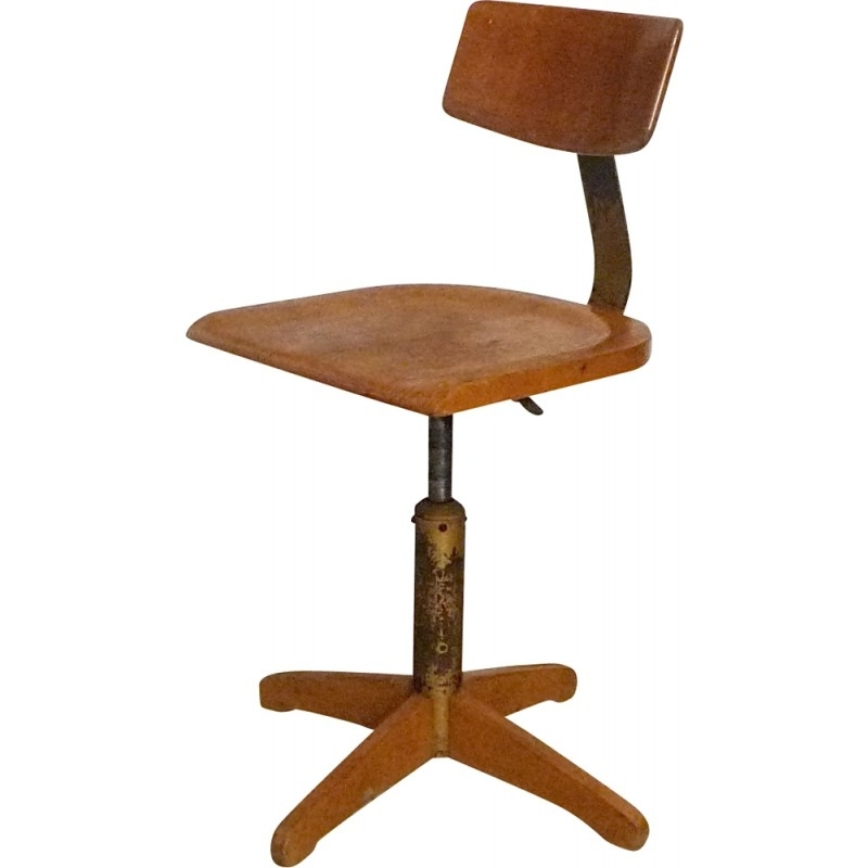 Favorite Amos Side Chairs Pertaining To Model 350 Industrial Swivel Chairama Elastik – 1950S – Design Market (View 10 of 20)