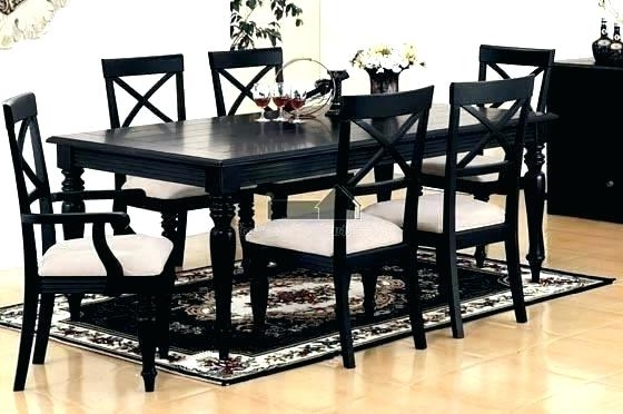 Favorite Black Dining Room Furniture Black Dining Table And Chairs Sets Black With Black Dining Tables (View 11 of 20)