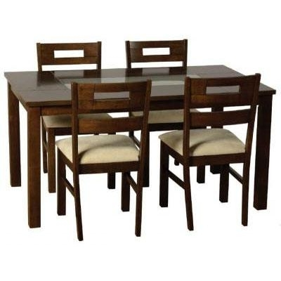 Favorite Black Wood Dining Tables Sets Within Dark Wooden Dining Table Set @ Homehighlight.co (View 10 of 20)