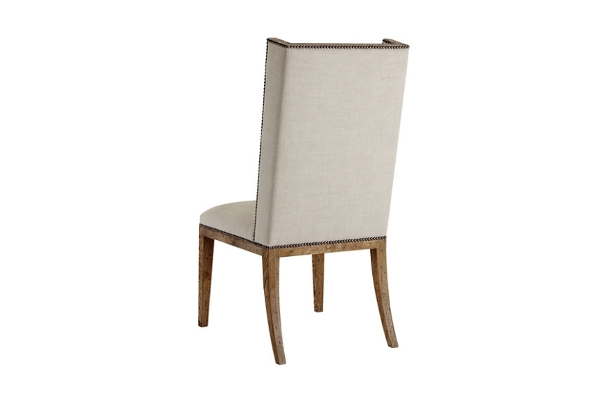 Favorite Brushed Oak Short Wing Back Side Chair, Light (View 9 of 20)