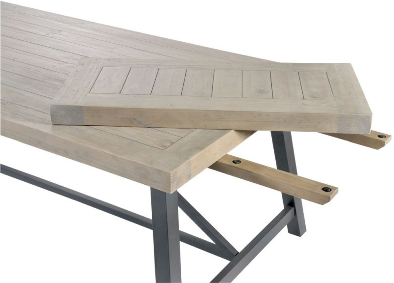 Favorite Buy Liddle Industrial Reclaimed Wood Rectangular Extending Dining Intended For Extendable Dining Sets (Gallery 7 of 20)