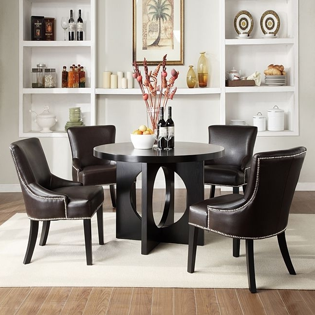 Favorite Caden 6 Piece Dining Sets With Upholstered Side Chair With Regard To Update Your Dining Room With This Comfortable Contemporary Brown (View 7 of 20)