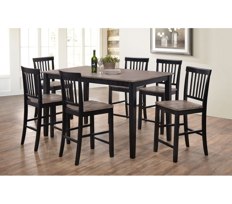Favorite Candice Ii 7 Piece Extension Rectangular Dining Sets With Uph Side Chairs Intended For Union Rustic Stafford 7 Piece Dining Set & Reviews (View 12 of 20)