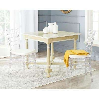 Favorite Carly Side Chairs Throughout Safavieh – Clear – Chairs – Living Room Furniture – The Home Depot (View 11 of 20)