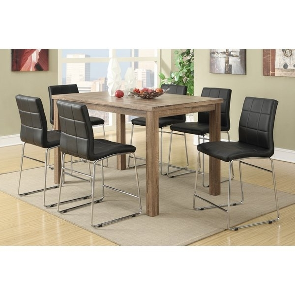 Favorite Chandler 7 Piece Extension Dining Sets With Fabric Side Chairs Intended For Shop Chandler 7 Piece Counter Height Dining Set – Free Shipping (View 12 of 20)