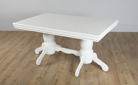Favorite Chatsworth White Extending Dining Table – With 6 Bewley Slate Chairs With Regard To Chatsworth Dining Tables (View 7 of 20)
