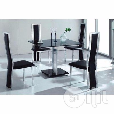 Favorite Cheap Glass Dining Tables And 4 Chairs In Homcy Glass Dining Table With 4 Chairs In Lagos State – Furniture (View 11 of 20)