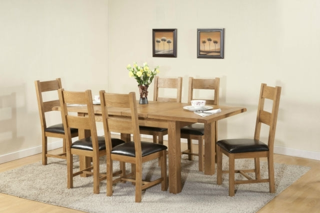 Favorite Chunky Solid Oak Dining Tables And 6 Chairs Within Burnham Solid Chunky Wood Rustic Oak Large Extending Dining Table (View 8 of 20)