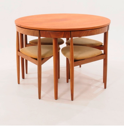 Favorite Compact Dining Tables And Chairs With Regard To Hans Olsen Compact Dining Table & Chairs (View 13 of 20)