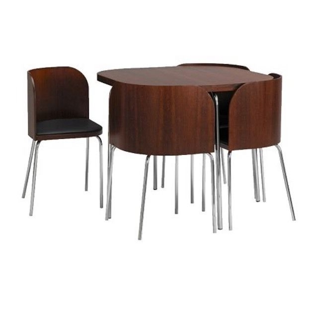 Favorite Compact Dining Tables With Regard To Ikea Discontinued Fusion Compact Dining Table And Chairs In Wood (View 10 of 20)