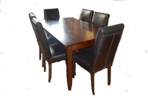 Favorite Dark Wood Dining Table With Removable Legs And 6 Highback Dark Brown In Dark Wood Dining Tables 6 Chairs (View 10 of 20)