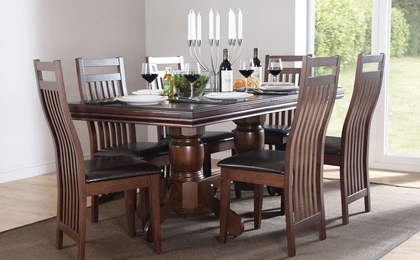 Favorite Dark Wooden Dining Tables Inside Chatsworth Dark Wood Extending Dining Table (View 10 of 20)