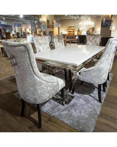 Favorite Dining Furniture Sets, Tables & Chairs Set – Taskers For Garten Marble Skirted Side Chairs Set Of  (View 5 of 20)