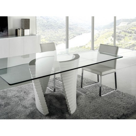 Favorite Elegante High Gloss Dining Table With Glass Top – Dining Tables In High Gloss Dining Tables (View 9 of 20)