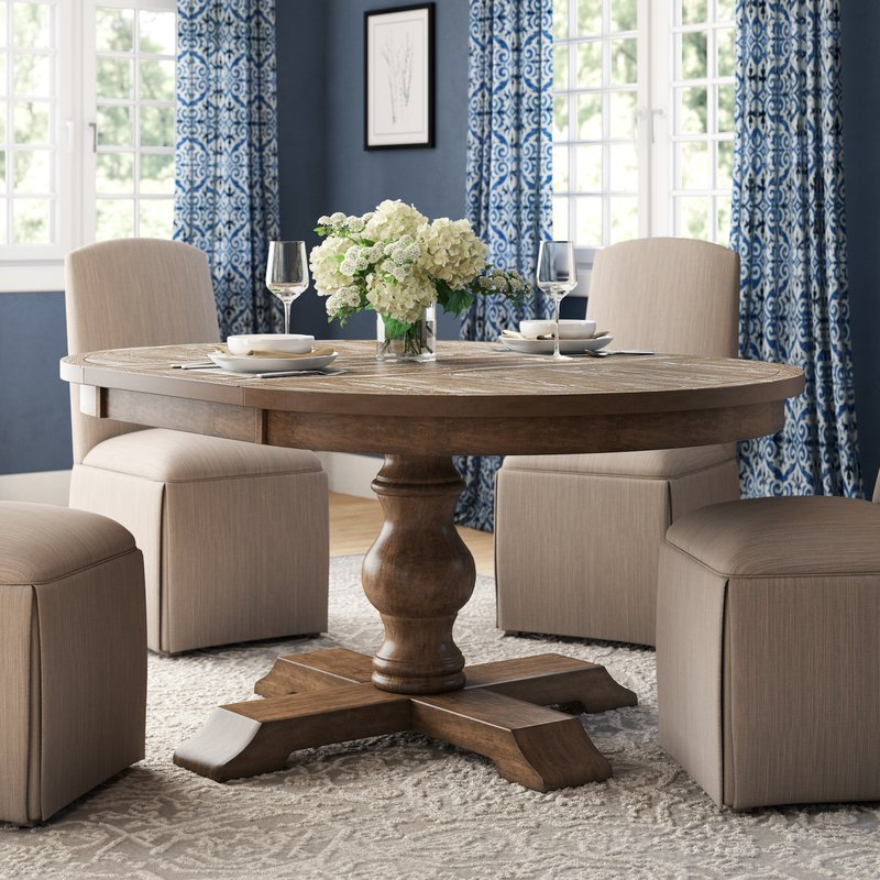 Favorite Extendable Dining Sets With Regard To Laurel Foundry Modern Farmhouse Fortunat Extendable Dining Table (Gallery 16 of 20)