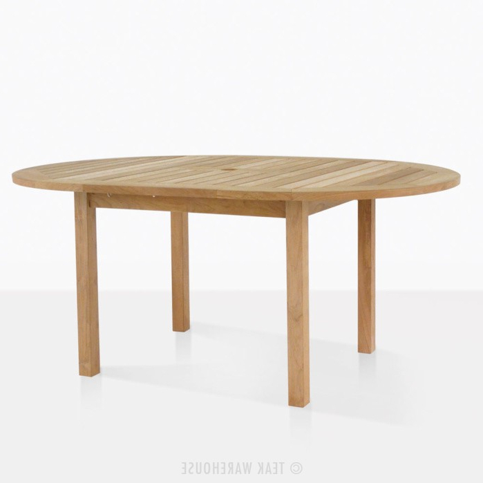 Favorite Extended Round Dining Tables With Nova Round Teak Extension Outdoor Dining Table (Gallery 14 of 20)