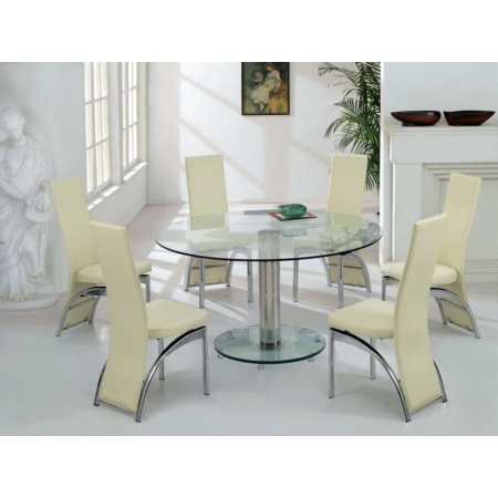 Favorite Glass Dining Tables And 6 Chairs In Glass Dining Table (View 4 of 20)